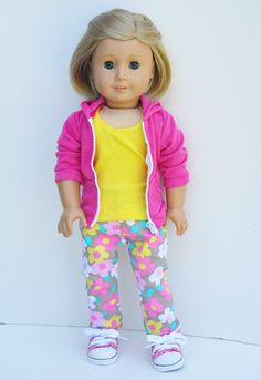 American+Girl+Clothes++Hot+Pink+Hoody+by+LoriLizGirlsandDolls,+$32.00
