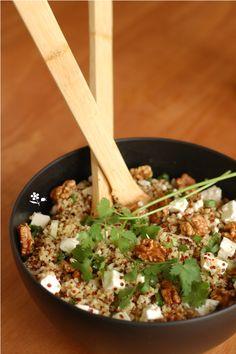 Salade boulgour-quinoa-feta-noix