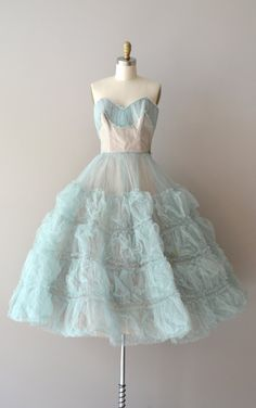 vintage 50s dress / 1950s dress / Permafrost tulle by DearGolden, $325.00