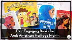 April is also Arab American Heritage Month. While I think it's super important to include books from diverse cultures and musicians, finding books for this culture was incredibly hard. As far as I could find, there were no books that featured musicians of an Arabic heritage for elementary school. But this doesn't mean we can't still include them in our lessons. So for this month, I've got four books that I found to highlight Arabic culture and also some listening links for you. Two of the… Elementary Choir, Elementary Music Lessons, Music Lessons For Kids, J Ward, Arab American, Blue Words, Teaching Music, Teaching Resources, Heritage Month