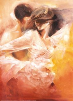 "The painting im recreating for a photo assignment! ""Emotional Dance"" by Robert Duvall"