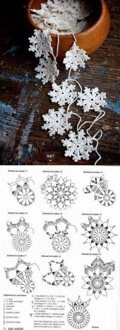 Вязание спицами и крючком - Häkeln Stern - Stricken und Häkeln - Häkeln Stern - # häkeln # Stricken # häkeln # stricken Crochet Snowflake Pattern, Crochet Motifs, Christmas Crochet Patterns, Crochet Snowflakes, Crochet Doilies, Crochet Flowers, Crochet Stitches, Crochet Christmas Decorations, Crochet Ornaments