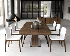 Stylish Classic Dining Room Trends Ideas 2019 - Dining Room Best Home Design Walnut Dining Table, Modern Dining Table, Extendable Dining Table, Dining Table Chairs, Dining Room Furniture, 10 Person Dining Table, Room Chairs, Furniture Ideas, Classic Dining Room