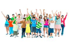 Group of mixed age people Royalty Free Stock Photo