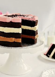 Neopolitan cake...the frosting is the flavor :)