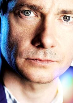 """His eyes made me do it!! - Martin Freeman Edit - I love this picture & it was a beauty to work with. """