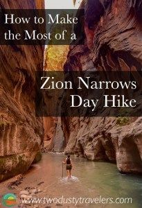 How to Make the Most of Your Zion Narrows Day Hike - Two Dusty Travelers The Narrows Zion, Hiking The Narrows, Hiking Trails, Us Road Trip, Road Trip Hacks, Us National Parks, Zion National Park, Travel Usa, Travel Tips