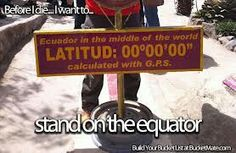 Stand on the equator