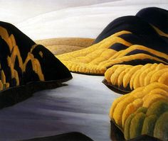 "Lawren Harris ""Quiet Lake"", 1922 (Canada, Post-Impressionism / Group of Seven… Tom Thomson, Emily Carr, Group Of Seven Artists, Group Of Seven Paintings, Canadian Painters, Canadian Artists, Landscape Art, Landscape Paintings, Lauren Harris"