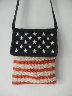 Vintage American Flag Purse