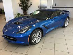 2016 Corvette Stingray Z51 Coupe in Laguna Blue Metallic Tintcoat with Kalahari interior and the 2LT trim package.