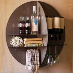 unique home decor ideas - wall wine bar for small spaces or modern homes!