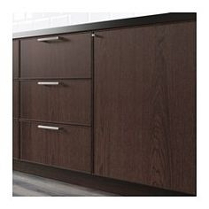 """IKEA - EKESTAD, Door, 15x30 """", , EKESTAD door has a thin solid ash frame and an oak veneer panel. The design is timeless and the straight simple lines let the wood grain pattern steal the show. Brown sets a warm, elegant tone in your kitchen.Visible variations in the wood grain give a warm, natural feeling.The solid wood frame adds stability and makes the door durable and long lasting.The wood veneer panel deepens in color and becomes more beautiful with time, just like solid wood.25-year…"""