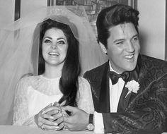 elvis presley priscilla beaulieu presley on their wedding day in Las Vegas May1st 1967