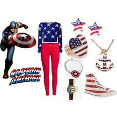 """Captain America"" by kiaracrowe on Polyvore www.freeforme.etsy.com"