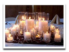 Cheap centerpiece ideas and photos. 12 cheap table centerpieces with pictures  for dinner parties, holidays, or wedding centerpieces on a budget.