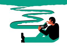 Turning water into money. Illustration for NZZ by Miguel Montaner, via Behance
