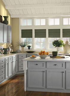 benjamine moore gray owl cabinets... walls look like bath vanity too.