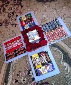diy presents - Birthday Gifts For Boyfriend Diy, Cute Boyfriend Gifts, Cute Birthday Gift, Birthday Gifts For Best Friend, Diy Birthday, Best Friend Gifts, Boyfriend Girlfriend, Exploding Gift Box, Cadeau Couple