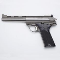 ".44 AMP PISTOL: The stainless steel Automag pistol, considered somewhat of a ""hot rod"" in handgun circles, had less than 9,000 examples manufactured during its eleven-year production run by several firms. Early owners of the .44 AMP pistol were even forced to handload their own ammunition."