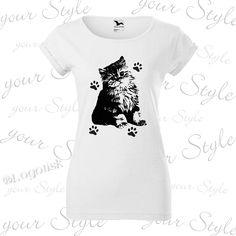 Výroba potisku na tričko roztomilým koťátkem + dotisky na přání T Shirts For Women, Tops, Fashion, Moda, Fashion Styles, Fashion Illustrations