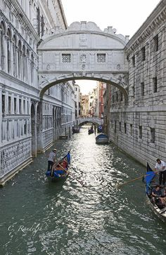 Bridge of Sighs - Venice, Italy  The view from the Bridge of Sighs was the last view of Venice that convicts saw before their imprisonment. The bridge name, given by Lord Byron in the 19th century, comes from the suggestion that prisoners would sigh at their final view of beautiful Venice through the window before being taken down to their cells.