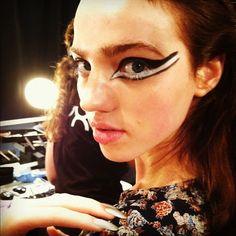 Futuristic mod makeup