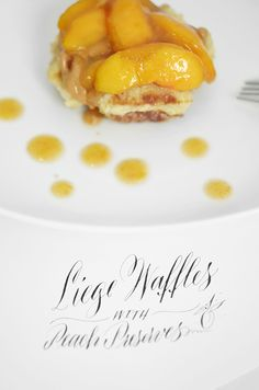 I Still Love You by Melissa Esplin: Foodie: Liege Waffles and Peach Preserves
