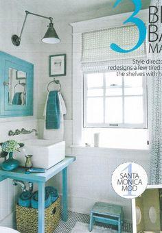 turquoise bathroom | My Dream Home