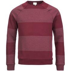 Felpa Adidas a righe € 29,90 stores.ebay.it/urbansc #felpa #abbigliamentouomo #urban #righe #pullover #marsala #prugna #bordeaux #maglia #maglione #adidas #adidasNEO