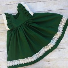 Toddler Green Christmas Dress Girls Elegant by BestDressEver dress Items similar to Toddler Green Christmas Dress - Girls Elegant Christmas Dress - Green Lace Christmas Dress - Toddler Holiday Outfit - Christmas Outfit on Etsy Dresses Elegant, Stylish Dresses For Girls, Frocks For Girls, Little Girl Dresses, Girls Dresses, Dresses Dresses, Party Dresses, Summer Dresses, Baby Girl Dress Design