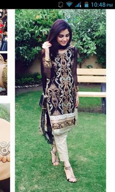 Sophisticated Black White and Gold Churidar Kameez Pakistani Couture, Pakistani Outfits, Indian Outfits, Indian Attire, Indian Wear, Pretty Dresses, Beautiful Dresses, Desi Wear, Desi Clothes