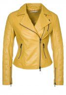 Leather jacket - yellow
