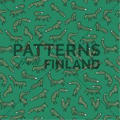 Tanja Kallio: Kuusikko – Kettuna #patternsfromagency #patternsfromfinland #pattern #patterndesign #surfacedesign #tanjakallio