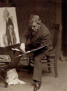 Joaquín Sorolla y Bastida, world renowned artist in his stuidio. (1863-1923) http://www.getty.edu/art/gettyguide/artMakerDetails?maker=786=1