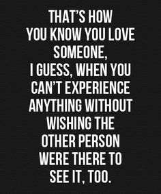 How You Know You Love – Love Quote