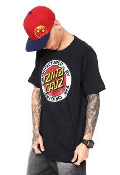 Camiseta Santa Cruz Estampada Preta