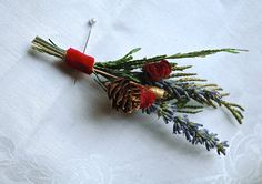 Winter Wedding Lavender Boutonniere. Great for relaxing and calming the wedding party as well as its beauty in simpliity #nocoldfeethere #deepbreath #balboabayresort