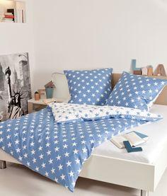 Schon Janine Biber Bettwäsche Sterne Blau. Wohlig Wärmend Und Angenehm  Hautsympathisch. Das Design Und Auch Die Hochwertige Verarbeitung  überzeugen.
