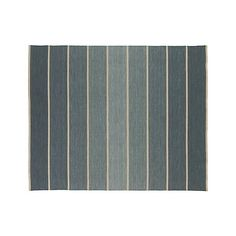 Bold Blue Striped Wool-Blend Dhurrie 8'x10' Rug | Crate and Barrel