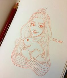 """Instagram photo by juditmallolart - Quick night sketch before keep working on commissions  * I watched an add today about the whole """"giving animals as presents"""" situation. People should be more aware that animals are not toys. They need time, dedication, affection and it's a change in your daily routine. So, think twice before give a pet to someone as a present if you are not sure if they will be able to take care of it. *"""
