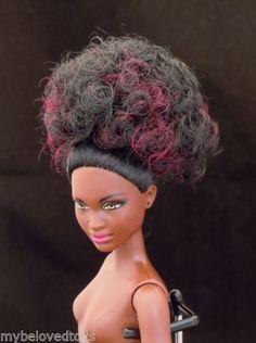BARBIE-AA-AFRO-CUSTOM-HAIR-NUDE-FASHION-DOLL-MATTEL-ORIGINAL-FOR-OOAK-OR-REPAINT