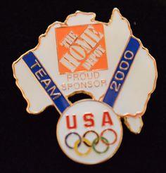 Home Depot Olympic Pin 2000 Sponsor