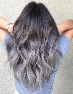 70 Flattering Balayage Hair Color Ideas for 2020 Hair inspiration – Hair Models-Hair Styles Ombre Hair Long Bob, Ombre Hair Color, Blonde Color, Ash Hair Colors, Cool Hair Colours, Pretty Hair Color, Different Hair Colors, Brunette Color, Grey Ombre