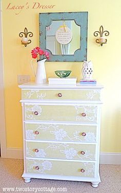 D.I.Y. Wallpaper Dresser Tutorial