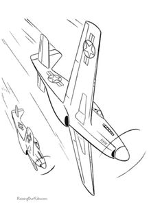 printable coloring page of jets