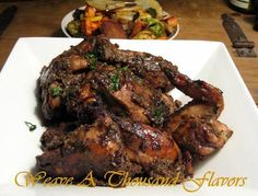 Mouthwatering Spicy Caribbean Jerk Chicken - Weave a Thousand Flavors Jerk Chicken Marinade, Jerk Chicken Wings, Baked Chicken, Chicken Recipes, Chicken Dips, Jamaican Dishes, Jamaican Recipes, Chicken, Healthy Recipes