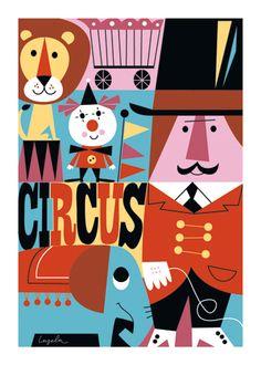 Affiche Ingela Arrhenius - Circus - Ingela Arrhenius, Mes Habits Chéris - kidstore Récréatif - Décoration enfant