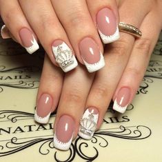 Make French nails yourself at home - Nail Designs Nail Art Design Gallery, Best Nail Art Designs, Gel Nail Designs, Beautiful Nail Designs, Nails Design, Design Design, French Manicure Designs, French Tip Nails, French Manicures