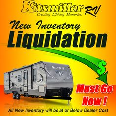 #Wow #RVs #GreatDeals Kitsmiller RV is Liquidating all new RV in stock. Prices At or Below Dealer Cost. They Must Go Now!